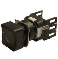 Кнопка нажимная квадратная d16мм (1НО) чёрная