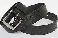 Черный тисненый джинсовый ремень