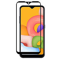 Защитное стекло 5D Full Glue для Samsung Galaxy A01 SM-A015F Black (Screen Protector 0,3 мм)