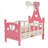 Кроватка для кукол (розовый) Полесье (62055)