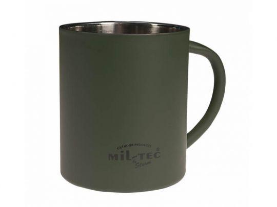 Кружка MIL-TEC с двойными стенками 450 мл Olive  (14603500)