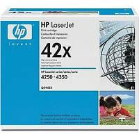 Лазерный картридж HP Q5942X черный (42X) HP LaserJet 4250 /4350 оригинальный, фото 1