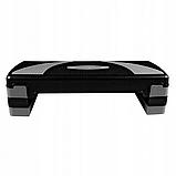 Степ-платформа 3-ступенчатая SportVida SV-HK0160, черный/синий, фото 7