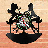 Настенные часы в Женский Салон Красоты, Маникюр, Хенд-Мейд Часы из Пластинки