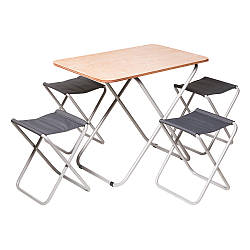 """Комплект """"Пикник"""" Стол + 4 стула"""