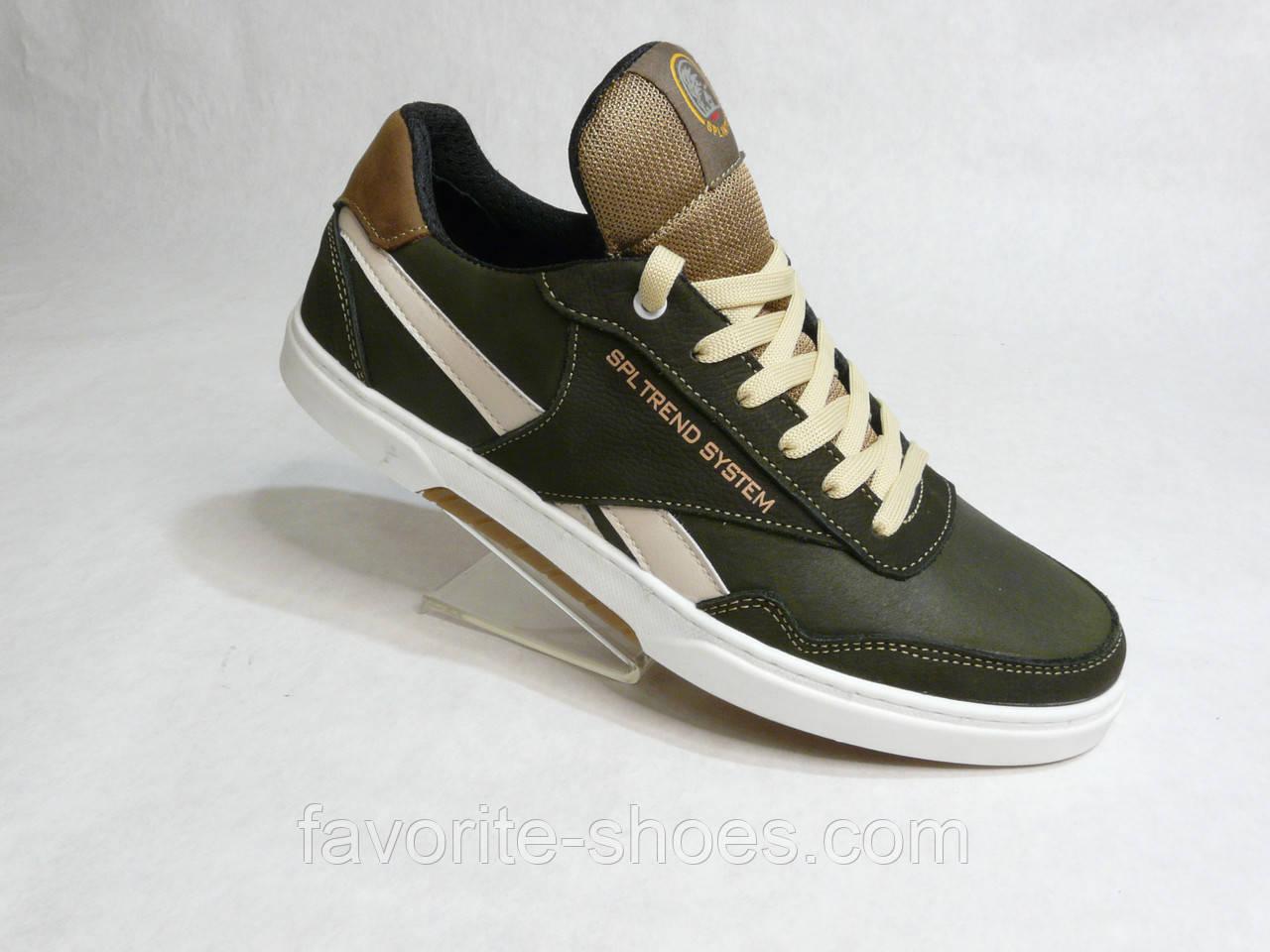 Кожаные мужские кроссовки Splinter стиль Adidas хаки