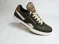 Кожаные мужские кроссовки Splinter стиль Adidas хаки, фото 1
