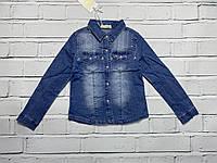 Джинсовая рубашка для девочек. 4- 12 лет.