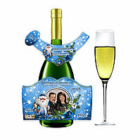 Печать наклеек на подарочные бутылки