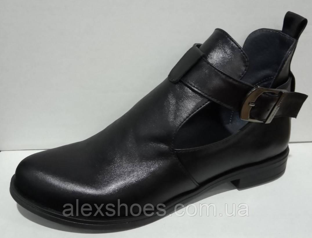 Туфли женские на низком ходу из натуральной кожи от производителя модель НИ-01228