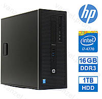 HP 800 G1 - Intel Core i7-4770/ 16GB DDR3/ 1TB HDD Системный блок, Компьютер, ПК