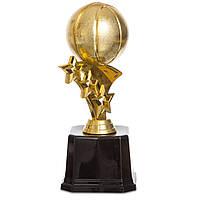 Награда (приз) спортивная Баскетбольный мяч (пластик, h-18см, b-8,5см, золото)