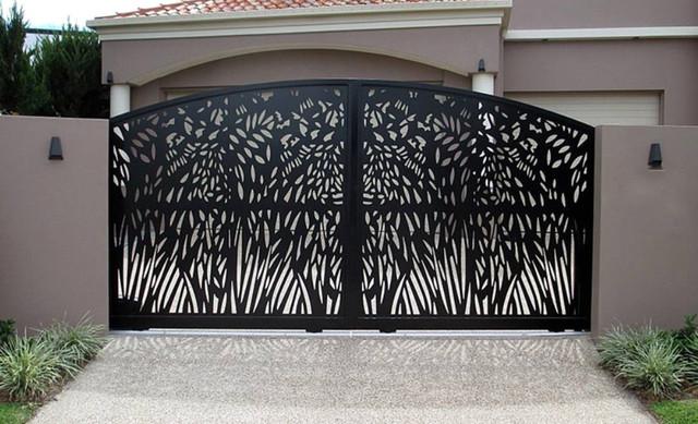 Распашные ворота плазменная резка