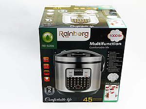 Мультиварка 6209 Rainberg пароварка йогуртница 45 программ