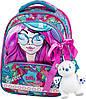 Рюкзак школьный ортопедический каркасный для девочки Delune 9-122 мишка сумка для обуви пенал 28 х16 х36 см