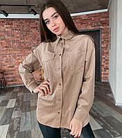Женская вельветовая рубашка Oversize