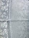 Палантин белого цвета из жаккардового шёлка, фото 5