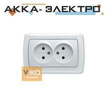 Розетка 2-а без заземлення ViKO Carmen 90561055