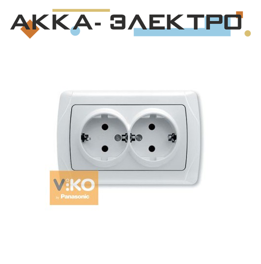 Розетка 2-а з заземленням ViKO Carmen 90561056