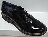 Туфли женские весна-осень из натуральной кожи от производителя модель НИ1237А, фото 3