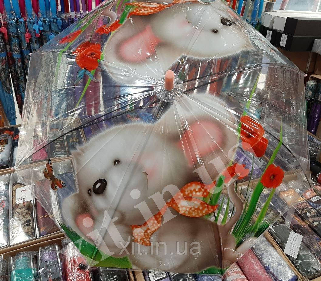 Зонт прозрачный для детей Мышонок