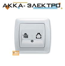 Розетка телефонна TF 1-а біла ViKO Carmen 90561013