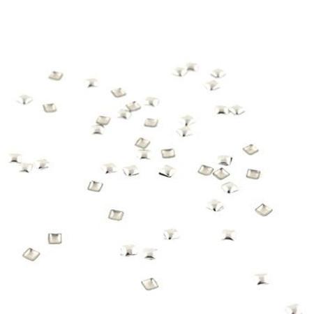 Набор металлических  украшений для ногтей серебро 100 шт