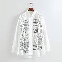 Белая блузка с надписью, фото 1
