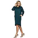 Платье тёплое, зелёного цвета, фото 2