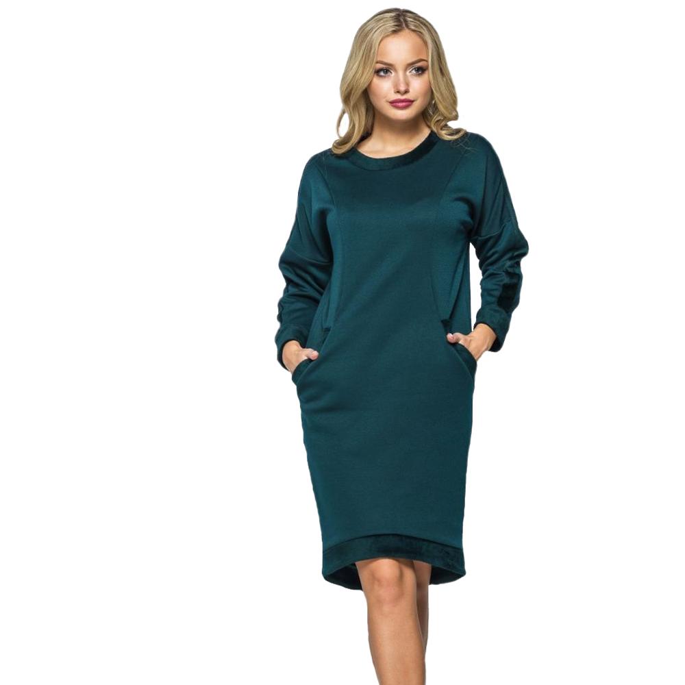 Платье тёплое, зелёного цвета