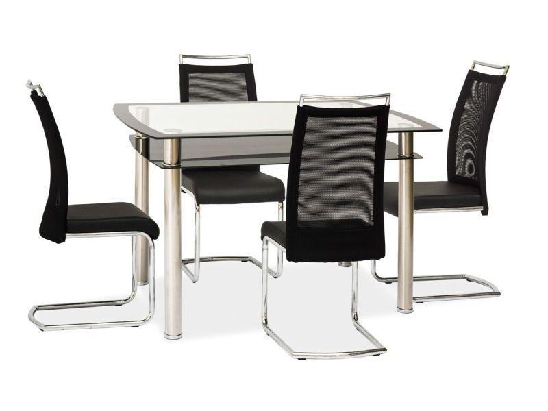 Стол стеклянный RODI черный/ безцветный 120X80X75 (Signal)