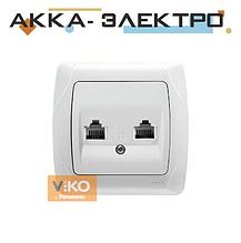 Розетка телефонна TF 2-а біла ViKO Carmen 90561033