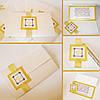 Свадебная пригласительная для свадьбы в золоте с логотипами молодоженов
