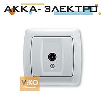 Розетка TV 12DB прохідна біла ViKO Carmen 90561060