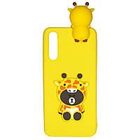 Чехол Cartoon 3D Case для Huawei P20 Жираф