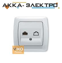 Розетка комп'ютерна 1-а RJ-45 біла ViKO Carmen 90561032