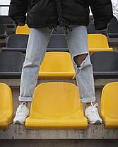 Кроссовки Reebok Classic (Рибок) Женские /Мужские  ( Жіночі, чоловічі Кросівки) Кожа, Белые, 37-41, фото 3