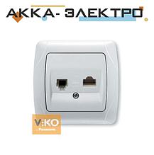 Розетка TF + RJ45 біла ViKO Carmen 90561035