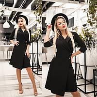 Платье женское с имитацией запаха (3 цвета) ТК/-4052 - Черный, фото 1