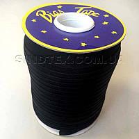 Хлопковаякосая бейка,1,5см -  50% полиэстер (100м), цвет черный (657-Л-0047)