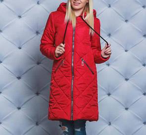 """Стильное женское теплое зимнее пальто больших размеров """"Саманта"""""""