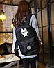 Большой тканевый унисекс рюкзак со светящимся/фосфорным рисунком супергероев, фото 6