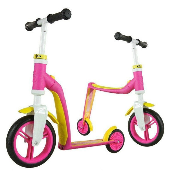 Scoot and Ride Highwaybaby+ Самокат-беговел 2 в 1 розовый Scooter and Ride On Toy