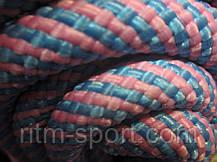 Скакалка мотузкові 3 м (Рожевий/Блакитний), фото 2
