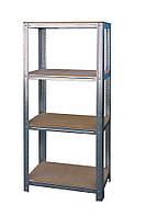 Стеллаж металлический полки МДФ 900*400 мм для балкона, гаража, подвала, склада, магазина, дома