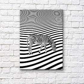 "Постер на полотні ""Зебра"""