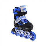 Роликовые коньки Nils Extreme NA0328A Size 30-33 Black/Blue, фото 6