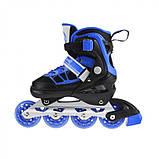 Роликовые коньки Nils Extreme NA0328A Size 30-33 Black/Blue, фото 5