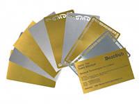 Печать на металлических визитках