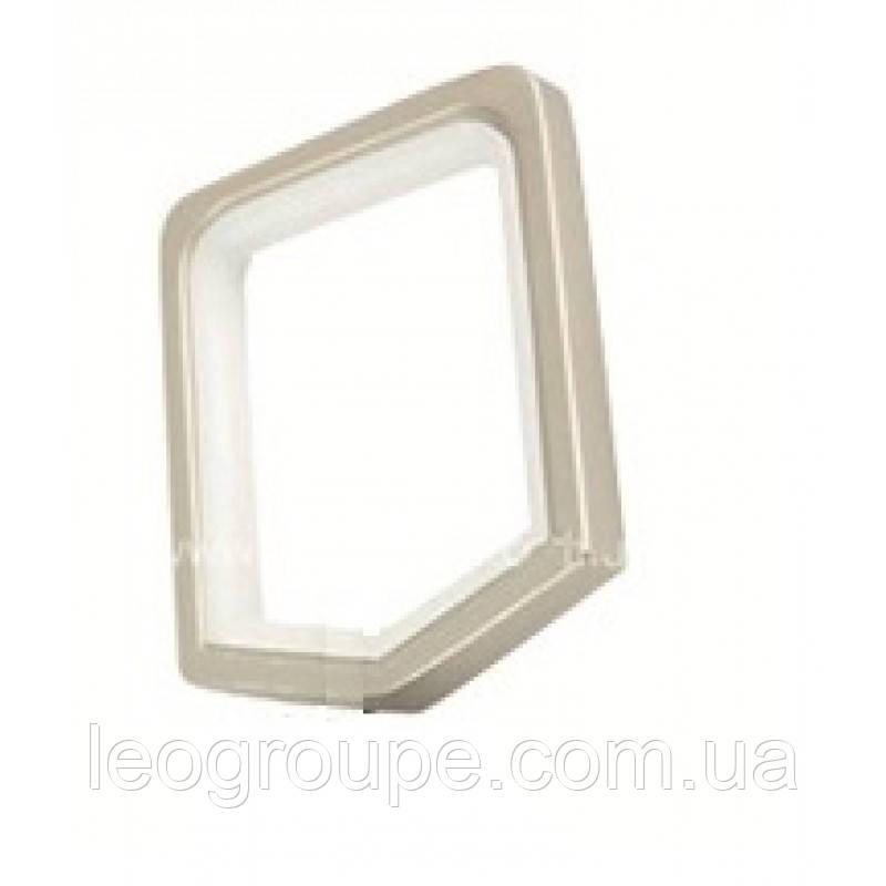 Кольцо квадро сатин 20х20
